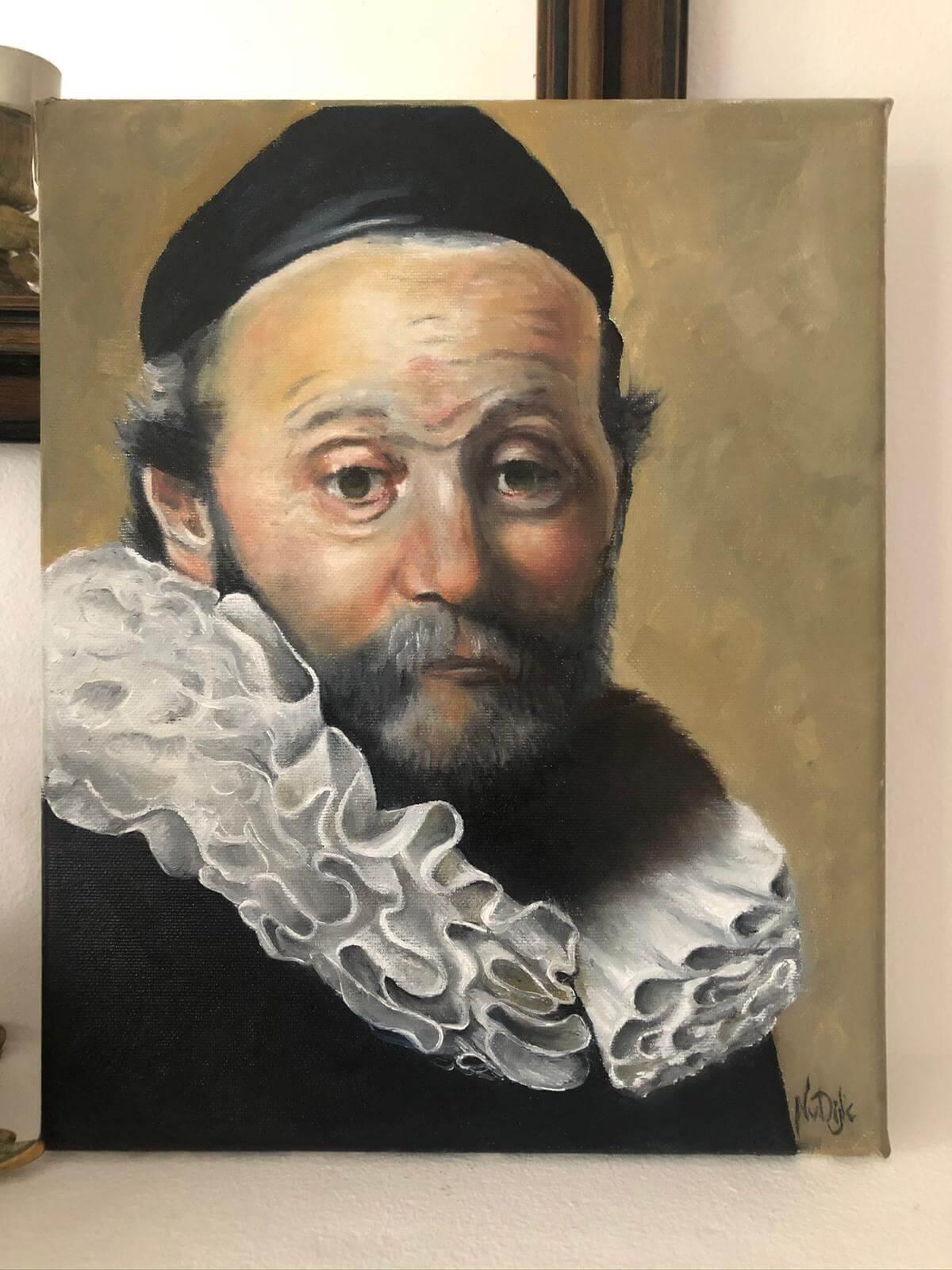 Schilderij olieverf - Oude meester