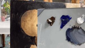 Schilderen voor beginners achtergrond in olieverf