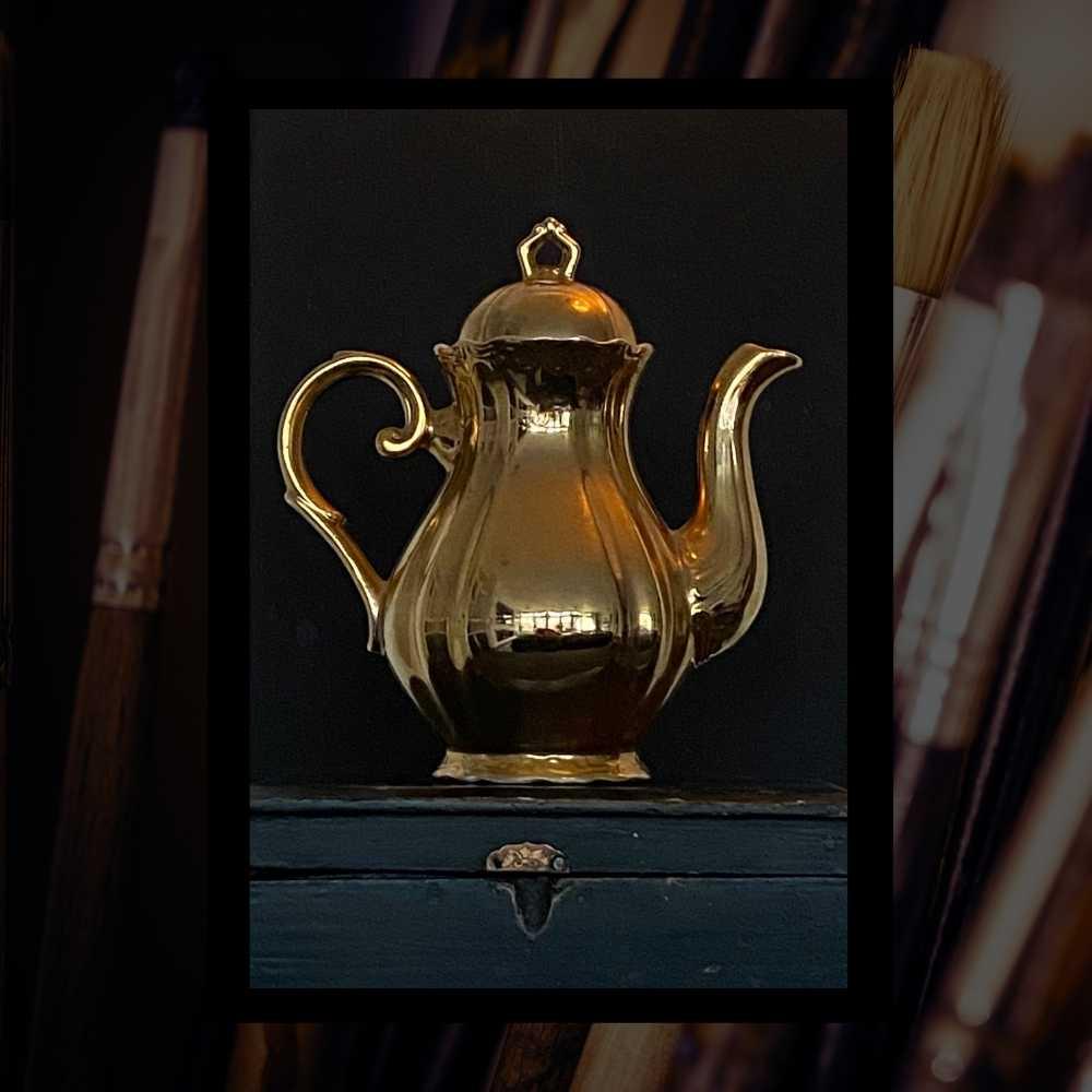 Online schildercursus olieverf - Gouden koffiekan