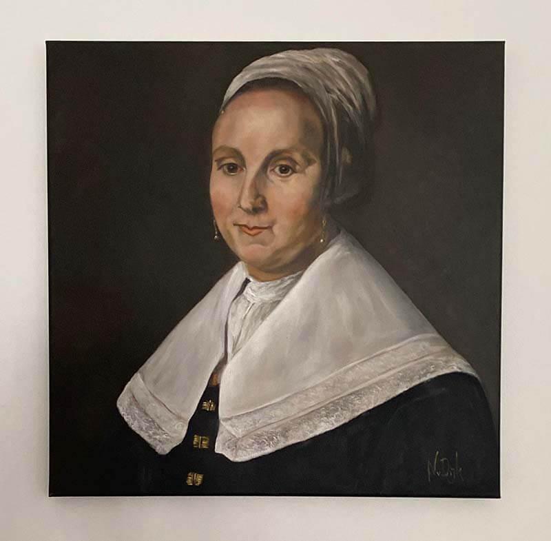 Olieverf schilderij portret oude meester