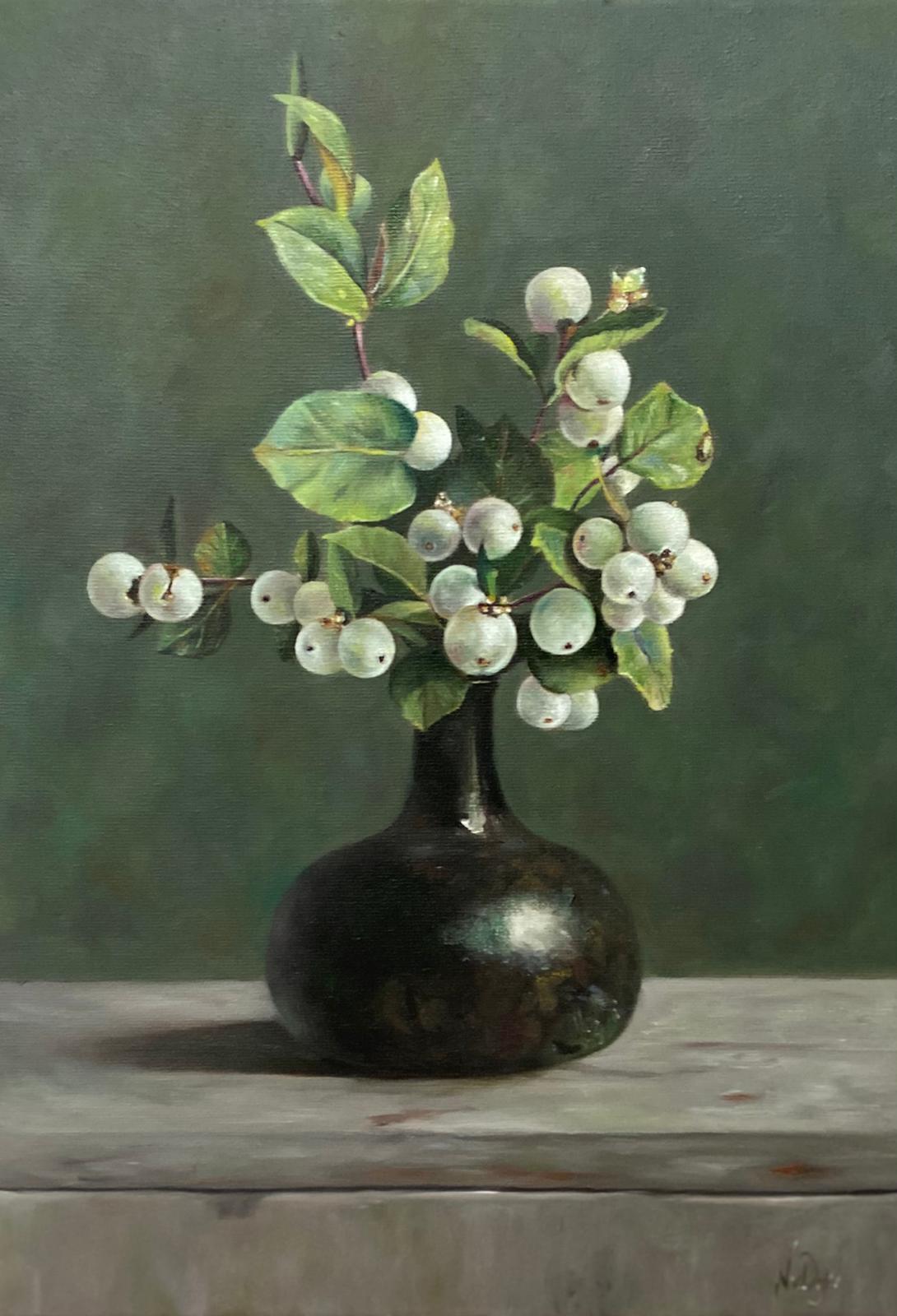 Vaas bloemen schilderij