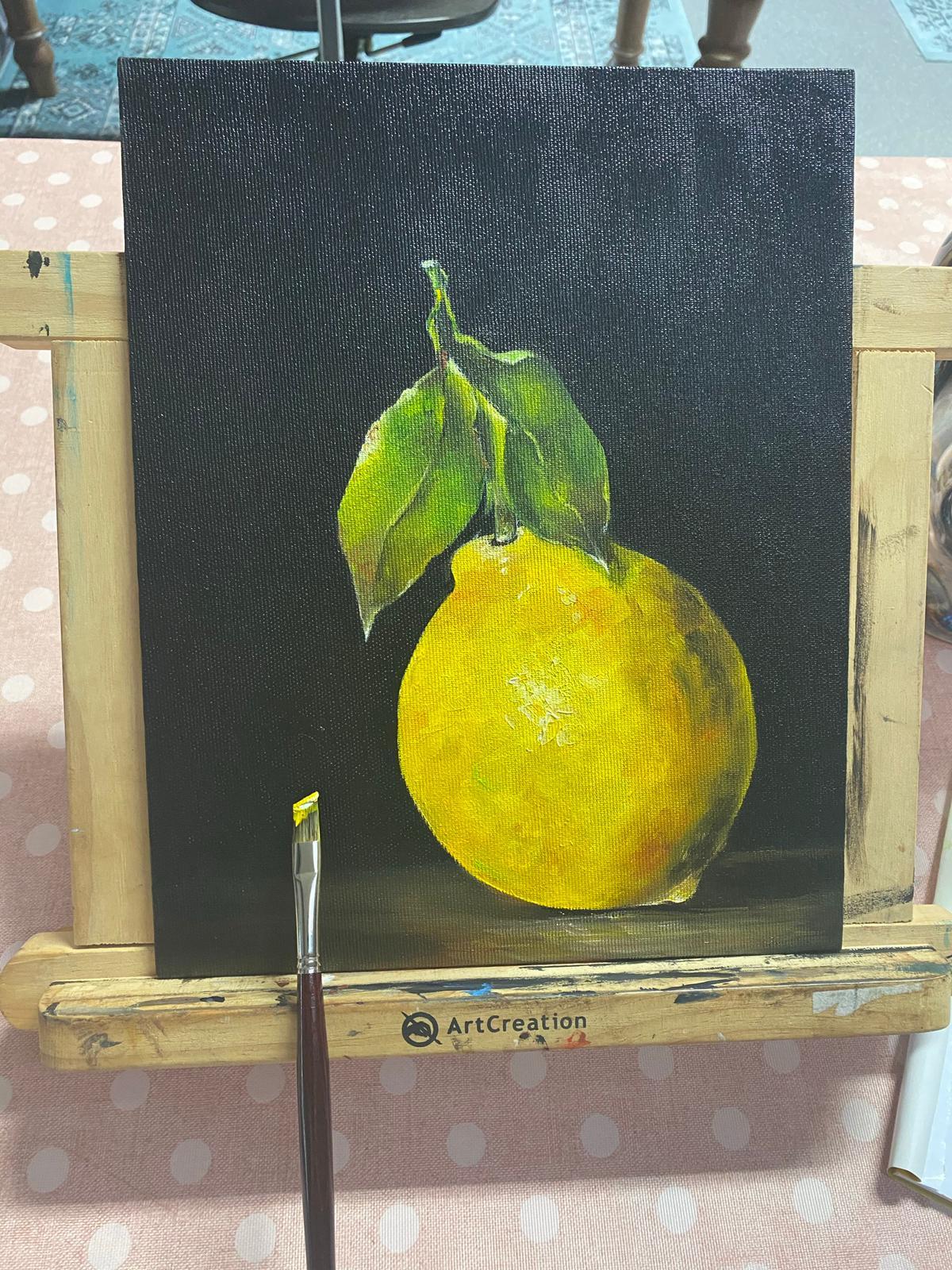Citroen olieverf schilderij
